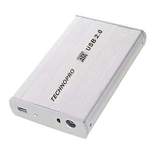 "3.5 inch 3.5'' HDD EXTERNAL HARD DISK DRIVE CASE USB 2.0 ENCLOSURE LED Indicator 1000gb win7 PC & MAC TECHNOPRO® (3.5"" SATA)"