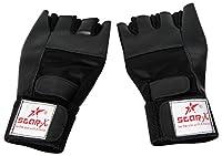 Star X gg290 Foam Gym Gloves Unisex 1 Pair (Black)