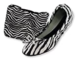 Zebra Print Foldable Ballet Flat Shoes