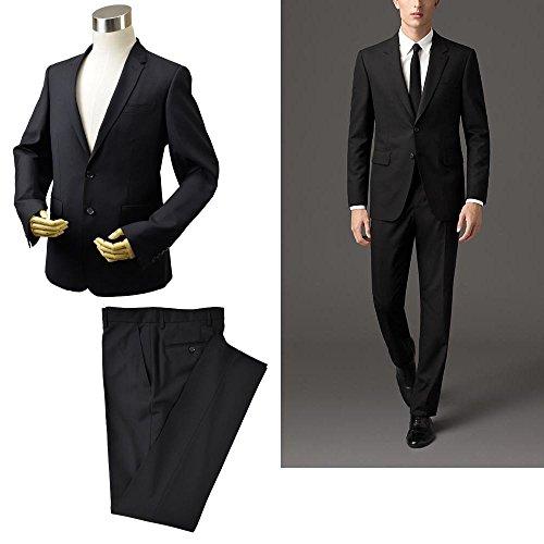 BURBERRY LONDON /バーバリー・ロンドン クラシックフィット ヴァージンウール セットアップ スーツ ブラック 冠婚葬祭 結婚式 EU52R US42R 日本Lサイズ相当【並行品】