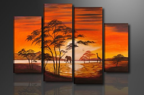 Picture - art on canvas africa length 51