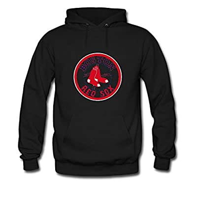 COSII Men's Refashion Boston Red Sox Classic Athletic Pullover Hoodie