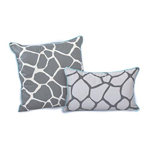 Reversible Animal Pillow : EZ Living Home Giraffe Reversible Decorative Pillow, 20 by 12-Inch, Grey Garden Household ...