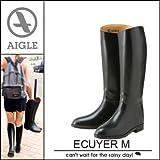 AIGLE エーグル ECUYER M エクイヤー レインブーツ ジョッキーブーツ 長靴 雨 雪|40/JP25 ブラック