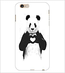PrintDhaba Bear with Heart D-1469 Back Case Cover for APPLE IPHONE 6 (Multi-Coloured)