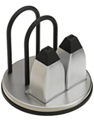 Prodyne M-915 Stainless Steel Napkin Holder with Salt and Pepper Shakers by Prodyne