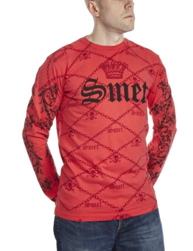 SMET By Christian Audigier Dragon Printed Mens T-Shirt Red Large