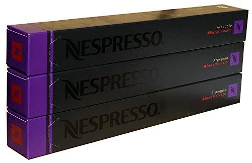 Nespresso Capsules - Arpeggio Decaffeinato - 30 Capsules, 3 Sleeves - New Decaf variety