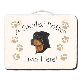 Rottweiler Spoiled Rotten Slate