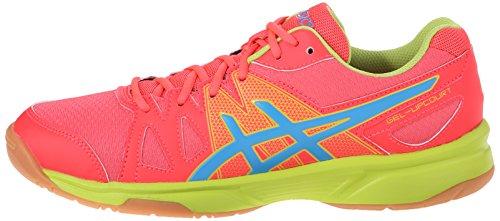 ASICS Women's ASICS Upcourt Indoor Court Shoe, Diva Pink/Methyl Blue/Lime, 8 M US