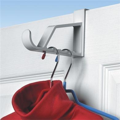 Spectrum Over the Door Hanger Holder Color: White 2 Pack