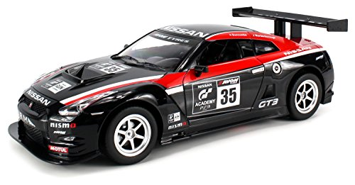 Licensed Nissan GTR NISMO GT3 GT Academy Electric Remote Control RC Car 1:16 Scale Ready to Run RTR w/ Bright LED Front & Rear Lights (Colors May Vary) (Rc Nissan Gtr compare prices)