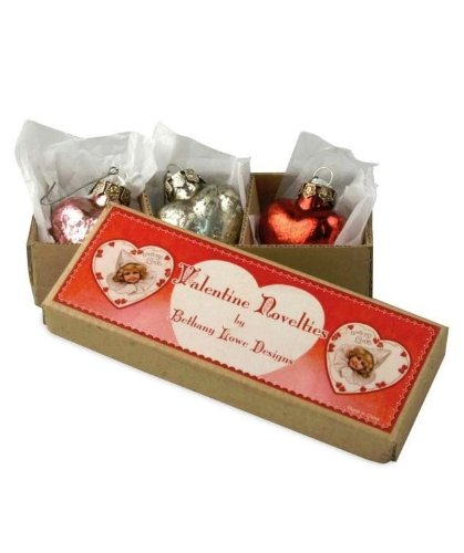 Bethany Lowe Valentine – Glass Heart Ornament Box Set – LG1646
