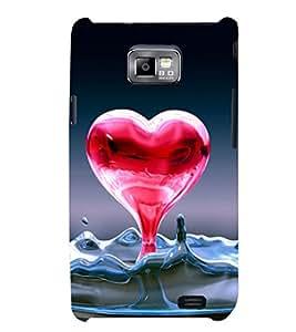 PRINTSHOPPII HEART LOVE Back Case Cover for Samsung Galaxy S2::Samsung Galaxy S2 i9100