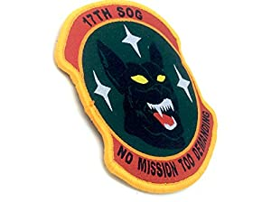 17th SOG No Mission Too Demanding Brodé Airsoft Velcro Patch