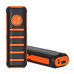 BINGO -K1 Power BankOrange & Black with (5200) mAh,Bluetooth stereo speaker AND High Quality LI-ion cells Battery,Equipped with high quality LED torch.
