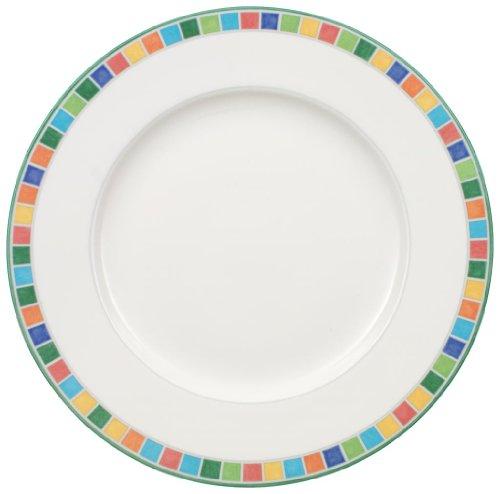 Assiette plate en porcelaine - 27 cm - Lot de 6 - TWIST ALEA