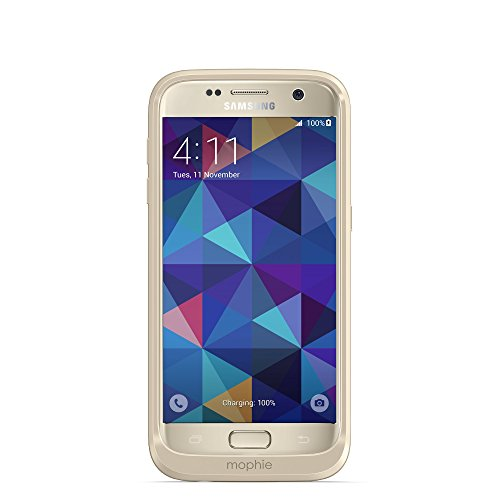 mophie juice pack - Protective Wireless Charging Battery Pack Case for Samsung Galaxy S7 - Gold