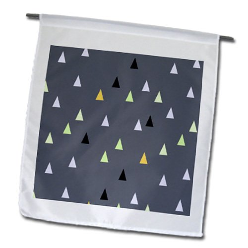 Fl_183938_1 Inspirationzstore Patterns - Dark Grey Triangle Pattern - Gray Tribal Teepee Or Mountain Design - Flags - 12 X 18 Inch Garden Flag front-86208