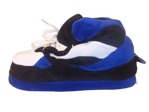 Cheap Happy Feet – Blue, Black and White – Slippers (B002ZHFK6U)