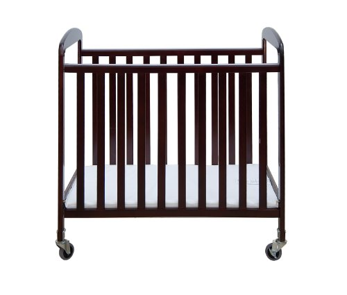 Dream On Me 2 In 1 See-Through Portable Convenience Crib, Cherry