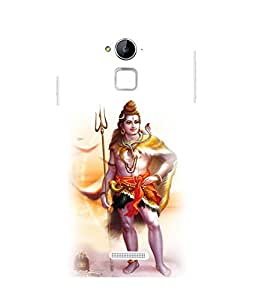 printtech Lord God Shivaya Back Case Cover for Coolpad Note 3 Lite Dual SIM with dual-SIM card slots