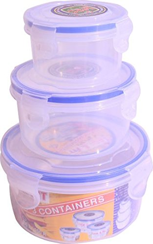 Lock & Fit Multipurpose Round Food Storage Container Set Of 3 (750 Ml, 400 Ml & 200 Ml)