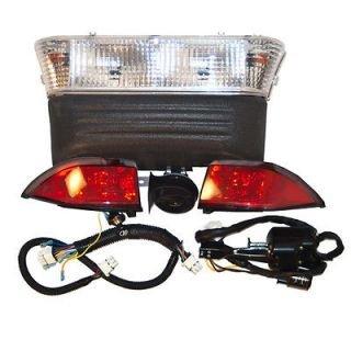 Club Car Precedent Gas Golf Cart Street Pkg Light Kit With Led Tail Lights