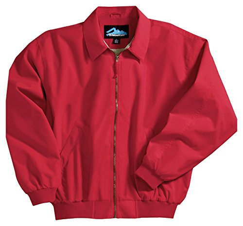 Achiever Microfiber Jacket with Poplin Lining, Color: Red, Size: Medium