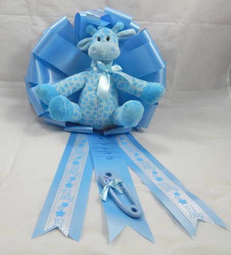 24 Inch New Baby Announcement Ribbon/It's a Boy Giraffe/1680