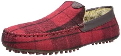 Ted Baker Mens Carota 3 Slippers 9-12728 Red Check 8 UK, 42 EU