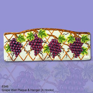 Best Review Of Ceramic Grape 4 Hooks Hanger