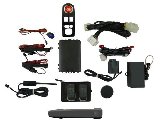 EasyGO AM-STI-61K Smart Key Remote Start and Alarm System with Dark Gray Metallic Driver's Door Handle for Subaru WRX STI (Sti Door Panels compare prices)