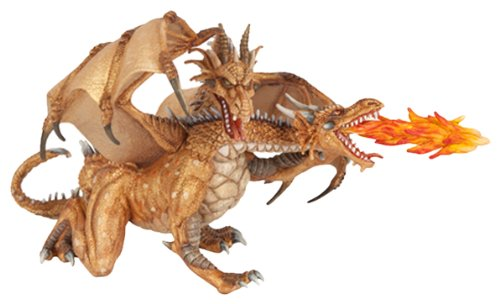38938 Figurine Two-headed Dragon Gold 38938 38938 By Papo