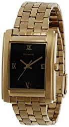 Sonata Analog Gold Dial Mens Watch - NF7953YM02J