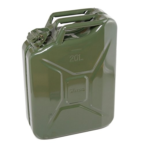 Case of 4 Authentic Nato 5 Gallon O.d. Jerry Metal Gas Can with Spout and Gaskets