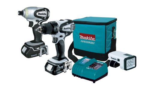 Makita LCT306W 18-Volt Compact Lithium-Ion Cordless 3-Piece Combo Kit