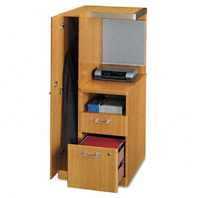 Bush Furniture Quantum Left Storage Tower, Modern Cherry
