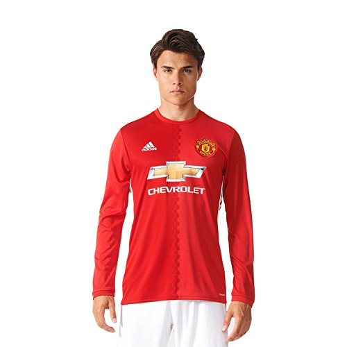 Adidas Manchester United 16/17 Long Sleeve Home Rea Red/Pow Red/White Jersey - S (Manchester United White Jersey compare prices)