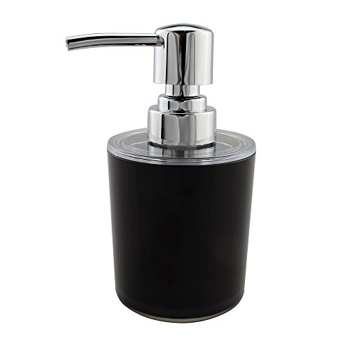 Seafulee Soap and Lotion Dispenser Pump, for Kitchen or Bathroom Countertops - Purple , Black/Chrome - 8.8oz (Black) 8.8 Ounce Bath