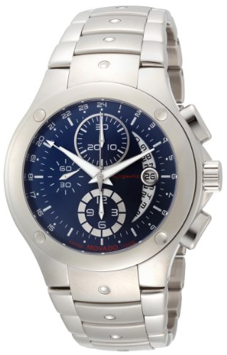 Movado Men s 0606350 SE Stainless Steel Blue Round Dial Watch