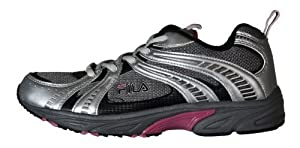 Fila , Chaussures de running pour homme SILVER/GREY/PINK - - SILVER/GREY/PINK, 35.5
