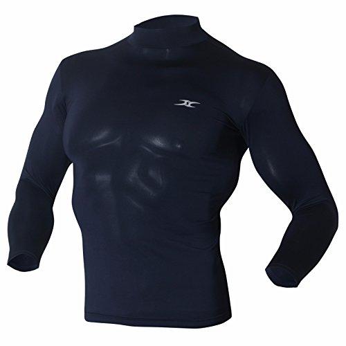 camicie-top-maglia-accollata-da-uomo-a-maniche-lunghe-strato-base-a-compressione-lo-magliette-dnavy-