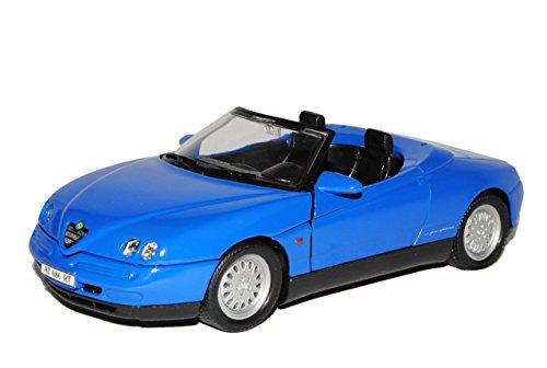 Alfa-Romeo-Spider-Cabrio-Blau-916-1994-2005-124-Welly-Modell-Auto