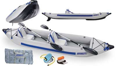 Sea Eagle Fast Track 2 Person Inflatable Kayak Deluxe