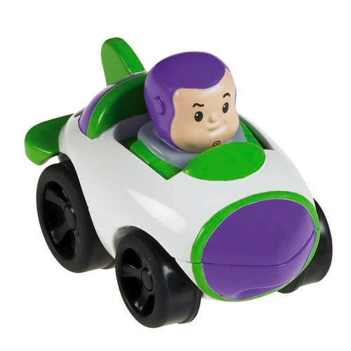 Fisher Price Little People Wheelies, X3891 Fahrzeug mit Buzz Lightyear aus Toy Story