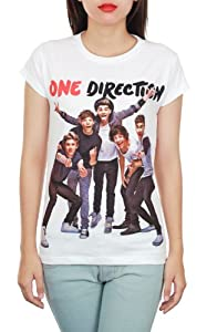 One Direction 1D Popular Boy Band White Teen Women Music T-Shirt