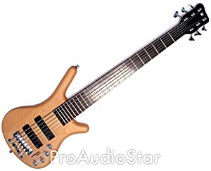 Warwick Corvette Basic 6-String Active Electric Bass Guitar in Natural Satin from Warwick