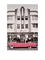 Artopweb Panel Decorativo Pink Cadillac multicolor