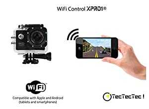 [NEW] TecTecTec!® Action Cam WIFI Waterproof HD Sports Action Video Camera with Mini LCD (Black, WIFI)
